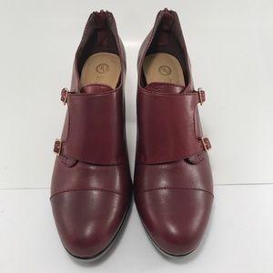 Bella Vita Burgundy Leather High-Heeled Booties